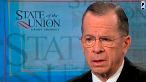 """Joint Chiefs of Staff Chairman Adm. Mike Mullen said the Marine Corps would comply with a """"don't ask, don't tell"""" repeal."""