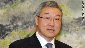 South Korean Foreign Minister Kim Sung-hwan.