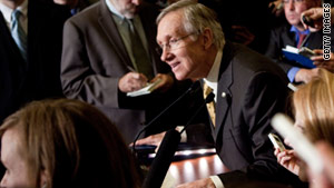 "Senate Majority Leader Harry Reid said Thursday there may be a vote on the repeal of ""don't ask, don't tell."""