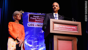 "Kathleen Sebelius and Eric Holder say many Americans with health insurance pay more ""because of our broken system."""