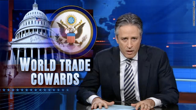 Comedian Jon Stewart is none too happy with Republicans for opposing the 9/11 responders bill.