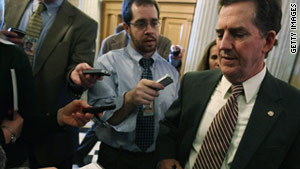 Republican Sen. Jim DeMint of South Carolina has said he might ask that the bill be read aloud.