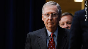 """We're going to pass a short-term continuing resolution over into March,"" Sen. Mitch McConnell said."