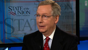 Sen. Mitch McConnell announced Sunday that he won't support the new START treaty.
