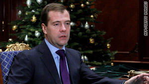 Russian President Dimitry Medvedev congratulated President Obama for the Senate's passage of the new START.