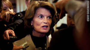 Alaska Sen. Lisa Murkowski defeated Tea Party favorite Joe Miller as a write-in candidate in November.