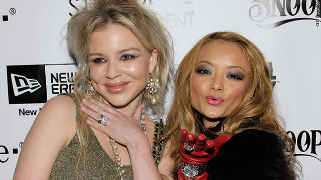 Casey Johnson and Tila Tequila are pictured one month before Johnson passed at the age of 30.
