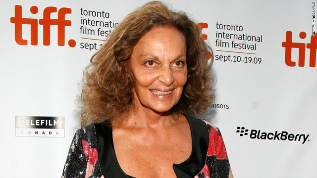 """My whole philosophy in life ... is to enjoy the woman that you are and to believe in it,"" says designer Diane von Furstenberg."