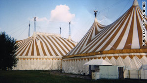 Several tents formerly belonging to Cirque du Soleil are on the way to Haiti to be used as government headquarters.