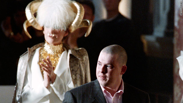 Fashion designer Alexander McQueen was found dead in his London home on February 11, 2010.