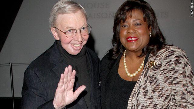 "Roger Ebert and his wife Chaz Ebert attend a party for the ""Precious"" premiere at the Toronto International Film Festival in 2009."