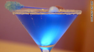 "The ""Avatar Princess"" martini also contains rock candy and a glowstick."