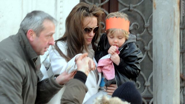 Photographers never pass up an opportunity to shoot the Jolie-Pitt family.