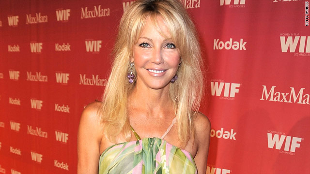 Actress Heather Locklear was ticketed for a misdemeanor hit-and-run crash outside her California home.
