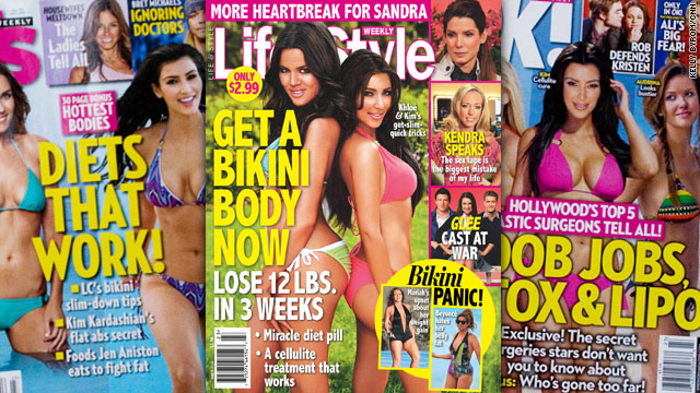 The Kardashian sisters are no strangers to magazine covers, many of which emphasize how they keep their physical figures.
