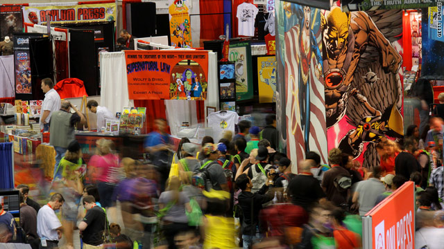 Fans flock to Comic-Con to get new and old comic books and comic book related merchandise.