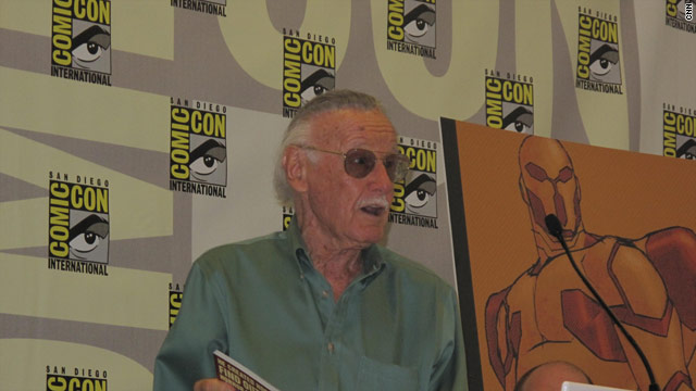 Stan Lee speaks at Comic-Con on Wednesday in San Diego, California.