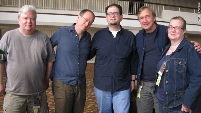 From left to right, Frank Conniff, Joel Hodgson, J. Elvis Weinstein, Trace Beaulieu and Mary Jo Pehl