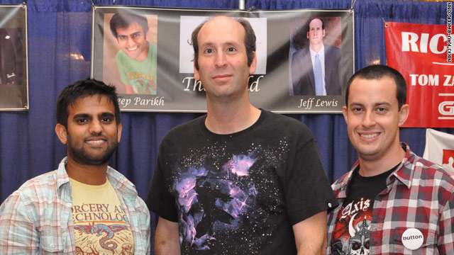 From left, Sandeep Parikh, Jeff Lewis and Sean Becker at their Dragon*Con autograph booth.