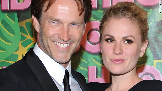 "Stephen Moyer and Anna Paquin worked with dialect coach Liz Himelstein to get their accents right for ""True Blood."""