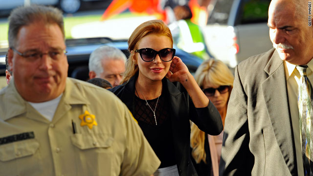 Lindsay Lohan was freed from jail late Friday. Earlier, a judge ordered Lohan to jail for a probation violation, but that decision was later overturned.