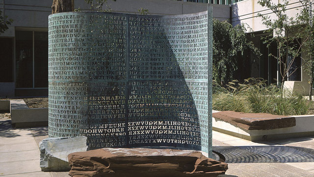 Code-breakers have yet to find the hidden message in artist Jim Sanborn's sculpture at the CIA headquarters.