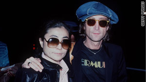 John Lennon with Yoko Ono in December 1980, shortly before he was shot and killed.