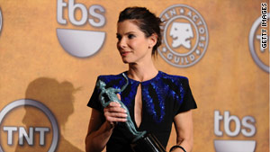 "Actress Sandra Bullock recieved an Oscar nomination for her role in the film ""The Blind Side."""