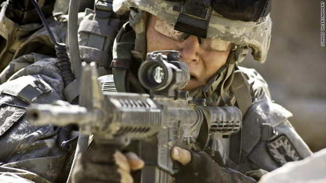 """The Hurt Locker,"" which has won several earlier critics' awards, received nine Oscar nominations Tuesday."