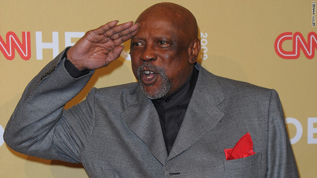 Award winning actor Louis Gossett Jr. says he hopes his going public is an example to others.