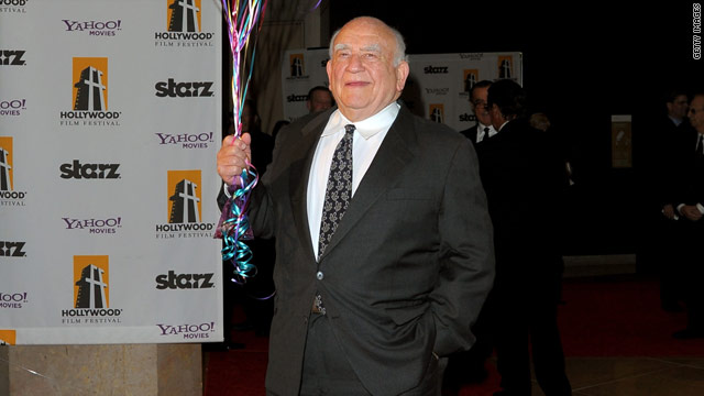 "Ed Asner is the voice of Carl Fredricksen, who flies to adventure in his balloon-bedecked house in the Oscar-nominated ""Up."""