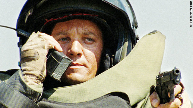 "A soldier is claiming the character played by Jeremy Renner, above, in ""The Hurt Locker"" is based on him."