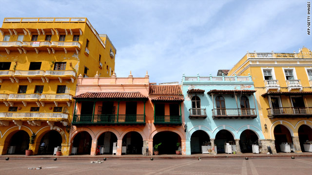 The picturesque setting inside the old walled town in Cartanega, Colombia. Who wouldn't want to set their film here?
