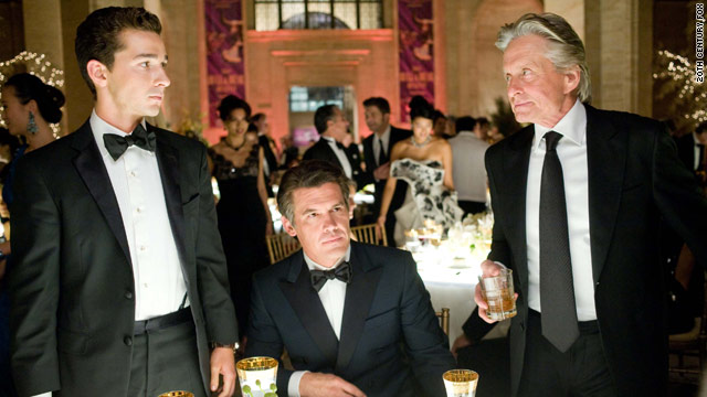 "Gekko's back: Shia LaBeouf, Josh Brolin and Michael Douglas in Oliver Stone's ""Wall Street: Money Never Sleeps."""