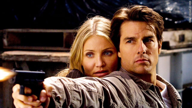 "Cameron Diaz and Tom Cruise star in the misguided action-adventure ""Knight and Day."""