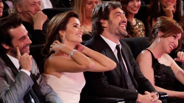 Spanish actors Penelope Cruz and Javier Bardem at the 'Goya Awards 2010' in Madrid, Spain on February 14, 2010.