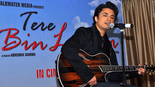 "Pakistani pop singer Ali Zafar stars in ""Tere bin Laden."""