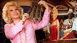 "Zsa Zsa Gabor, pictured in 1996, was watching ""Jeopardy!"" when she fell out of bed."