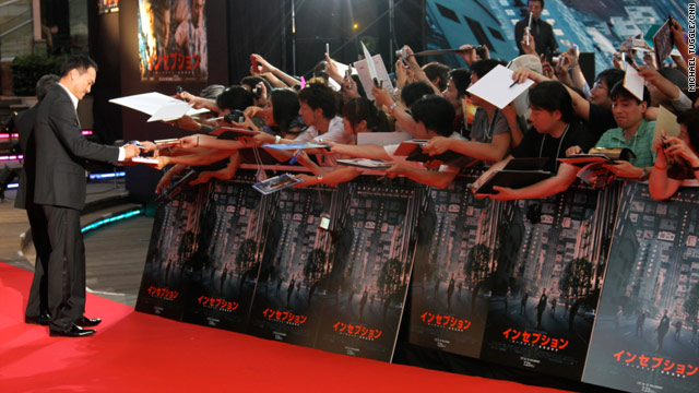 """Ken Watanabe walks the red carpet to meet with fans at the Tokyo premiere of """"Inception."""""""