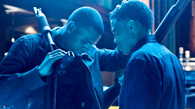 "Chris Brown and Michael Ealy co-star in John Luessenhop's ""Takers."""