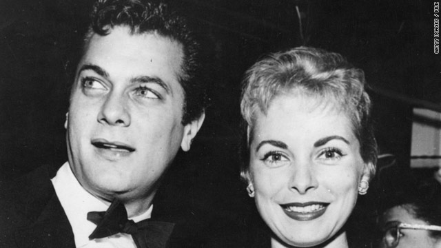 Tony Curtis, photographed in 1950 with Janet Leigh, was nominated for an Academy Award, Golden Globe and Emmy Award.