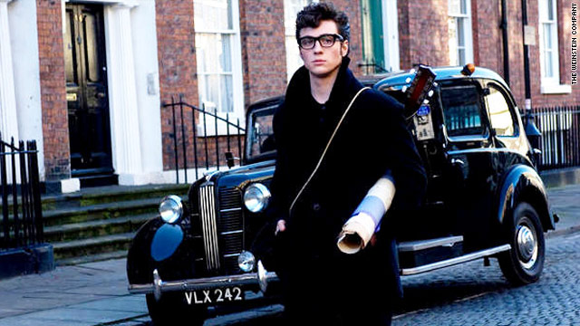 "Actor Aaron Johnson portrays a young John Lennon in the film ""Nowhere Boy."""