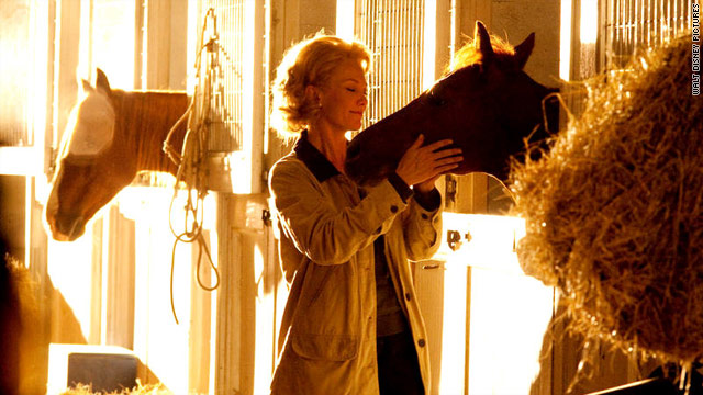 Diane Lane plays the film's central character, Penny Chenery, a housewife who wins Secretariat in a coin toss.