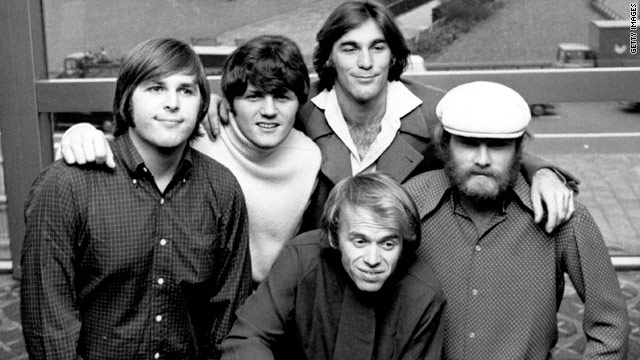 The Beach Boys in 1968, from left, Carl Wilson, Bruce Johnston, Dennis Wilson, Al Jardine and Mike Love.