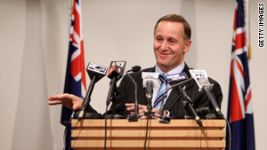 "Prime Minister John Key holds a press conference in relation to ""The Hobbit"" film on Wednesday in Wellington."
