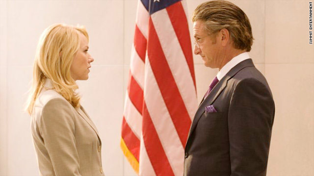 "Naomi Watts and Sean Penn portray wife and husband Valerie Plame and Joe Wilson in the film ""Fair Game."""