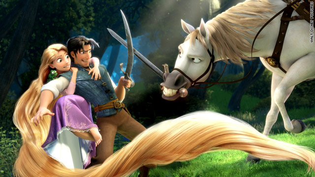 "The new Disney film ""Tangled"" is a retelling of the story of Rapunzel, complete with 3-D action."