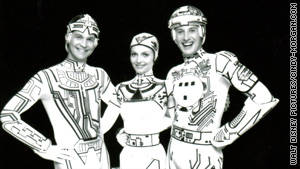 "Original ""Tron"" cast members Jeff Bridges, Cindy Morgan and Bruce Boxleitner behind the scenes."