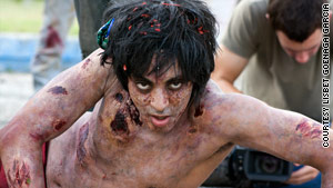 "Actors film ""Juan of the Dead"" in Cuba."