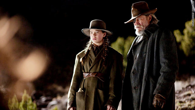 """True Grit,"" starring Hailee Steinfeld and Jeff Bridges, makes Tom Charity's list as one of the best movies of 2010."
